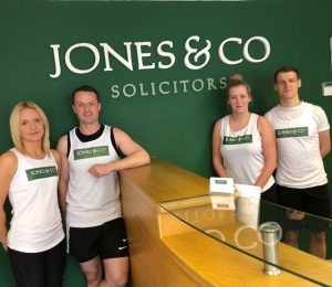 The team from Jones & Co Solicitors taking part in the Retford Half Marathon 2018
